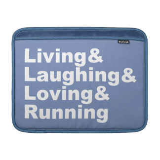 Living&Laughing&Loving&RUNNING (wht) Sleeve For MacBook Air