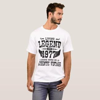 LIVING LEGEND SINCE 1977 LEGEND NEVER DIE T-Shirt