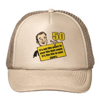 Living Life 50th Birthday Gifts Cap