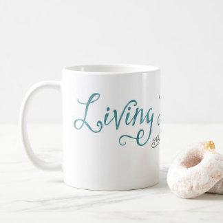 Living Life and Learning 11 oz Classic White Mug