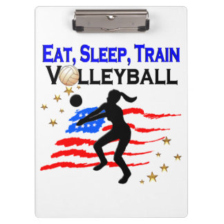 LIVING MY VOLLEYBALL DREAM DESIGN CLIPBOARDS