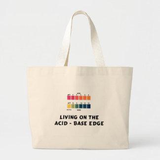 Living on the Acid / Base Edge Large Tote Bag