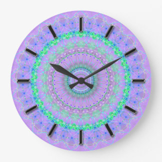 Living Purple Mandala kaleidoscope wall clock