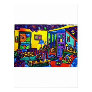 Living Room # 1 by Piliero Postcard