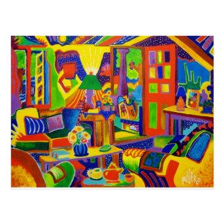 Living Room Magic Postcard