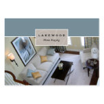 Living Room Staging / Stager Photo Business Card