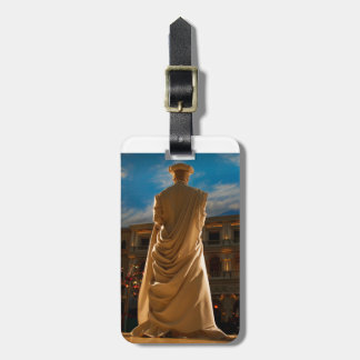 Living Statue Luggage Tag