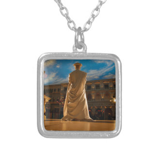 Living Statue Silver Plated Necklace