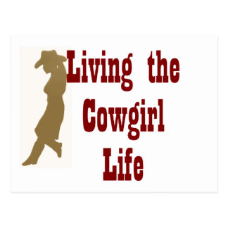 Living the Cowgirl Life Postcard