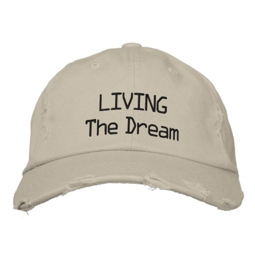 LIVING The Dream cap Embroidered Baseball Caps