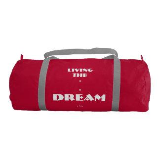 """Living The Dream"" Duffel Bag Gym Duffel Bag"