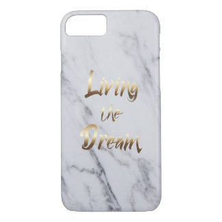 Living The Dream Inspiring Typography iPhone 8/7 Case