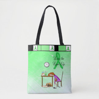 Living the Lymie Life Lyme Disease Tote Bag