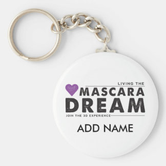 Living the Mascara Dream Keychain