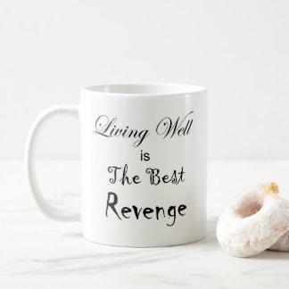 Living Well is the Best Revenge and Sun Coffee Mug