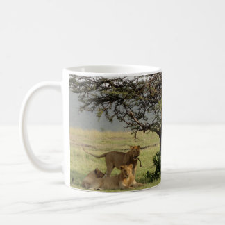 Living with Lions Mug with Out of Africa Quote