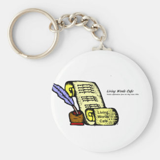 Living Words Cafe Key Chain