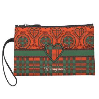 Livingston clan Plaid Scottish tartan Wristlet Purse