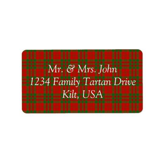 Livingston Tartan Label Address Label