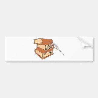 Livro é para usar livro com teia de aranha bumper stickers