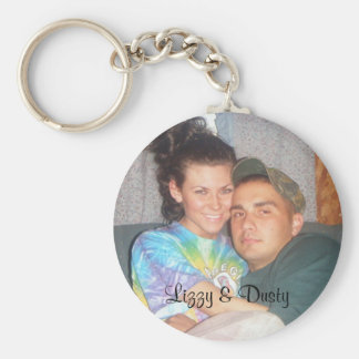 liz316, Lizzy & Dusty Basic Round Button Key Ring