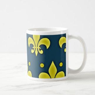 Liz Flower Sign - Fleur-de-lis Coffee Mugs