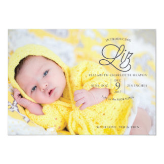 Liz Heaven Birth Announcement