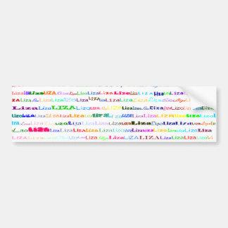 Liza Text Design II Bumper Sticker