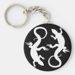 Lizard Art Keychain Cool Retro Reptile Art Gifts