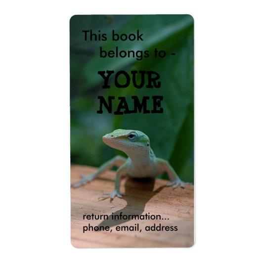 Lizard book label/plate