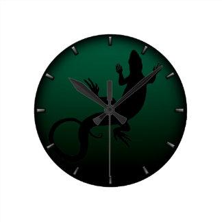 Lizard Clock Cute Reptile Art Lizard Wall Clock