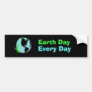 Lizard Earth Day, Every Day Bumper Sticker