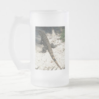 LIZARD FROSTED GLASS BEER MUG