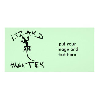 Lizard Hunter for Dogs and Pet Lovers Personalized Photo Card