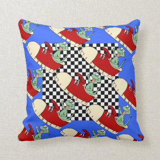 Lizard in Red Tennis Shoes Throw Pillow