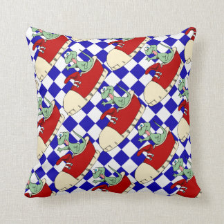 Lizard in Red Tennis Shoes Pillow for Boys Room