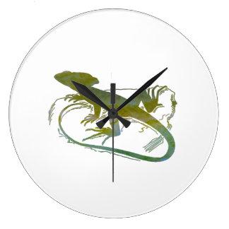 Lizard Large Clock