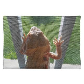 Lizard Lovers Cute Beardie Photo Placemat