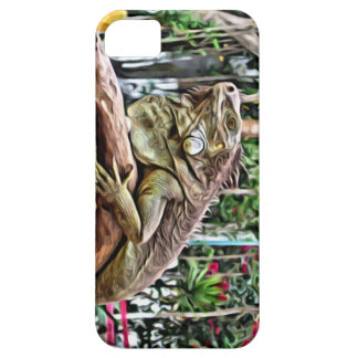 Lizard on a branch iPhone 5 cases