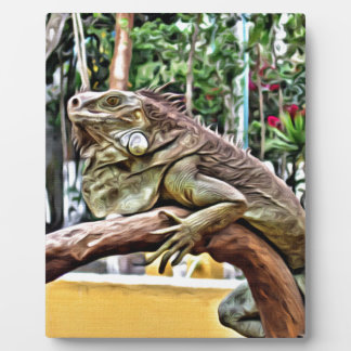 Lizard on a branch photo plaque