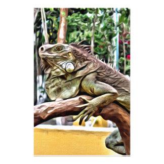 Lizard on a branch stationery