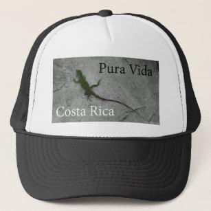 6be75e1741d Lizard on Stone wall in Costa Rica Pura Vida! Trucker Hat