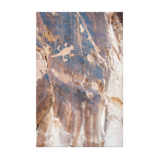 Lizard Petroglyph Panel in Dinosaur National Mnt. Canvas Print
