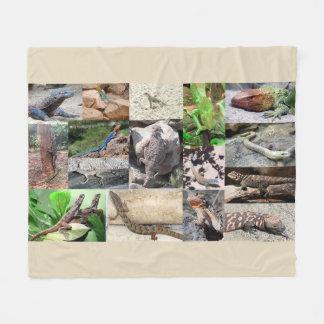 Lizard photo blanket full color