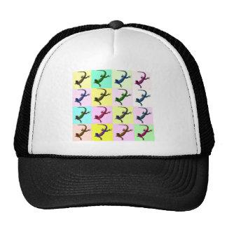 Lizard pop Art Hats
