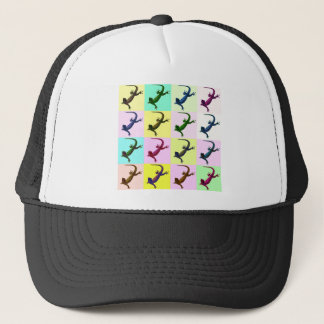 Lizard pop Art Trucker Hat