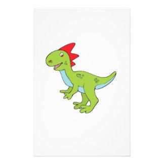 lizard rex dinosaur stationery