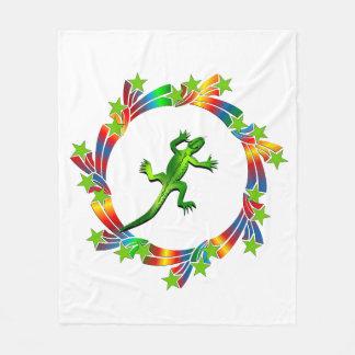 Lizard Stars Fleece Blanket
