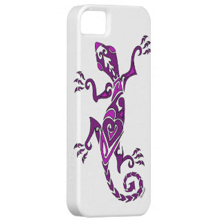 Lizard tattoo/henna in purple iPhone 5 covers
