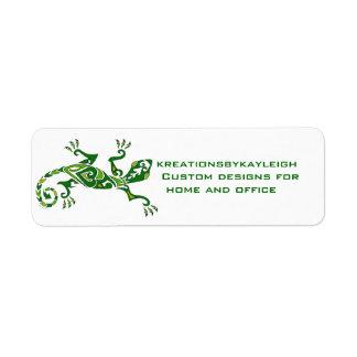 Lizard Tattoo Return Address Label
